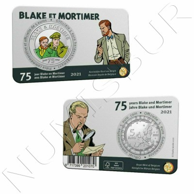 5€ BELGIUM 2021 - Blake et Mortimer (COLORED)