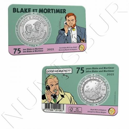 5€ BELGIUM 2021 - Blake et Mortimer