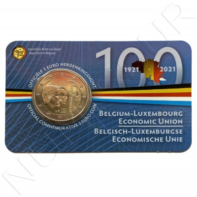 2€ BELGIUM 2021 - Centenary of the constitution of the Belgian-Luxembourg Economic Union (Netherlands Mint)