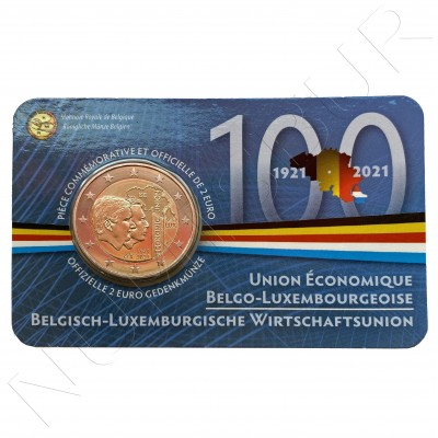 2€ BELGIUM 2021 - Centenary of the constitution of the Belgian-Luxembourg Economic Union (French Mint)