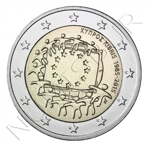 2€ CYPRUS 2015 - XXX aniversary of European FLAG