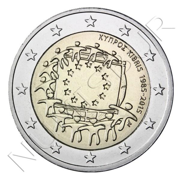 2€ CHIPRE 2015 - XXX aniv. de la bandera Europa