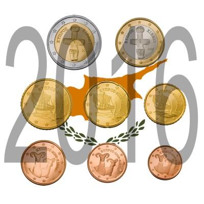 Tira CYPRUS 2016 - 8 coins
