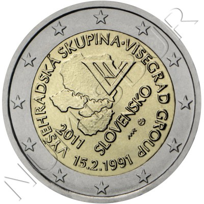2€ SLOVAKIA  2011 - Creation of the Visegrad Group