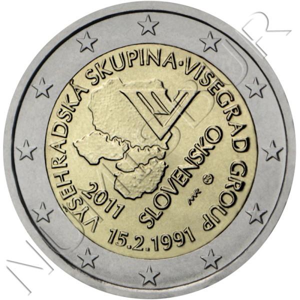 2€ ESLOVAQUIA 2011 - Creación del Grupo de Visegrado