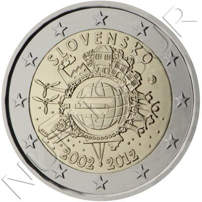 2€ SLOVAKIA 2012 - 10º aniv. EURO