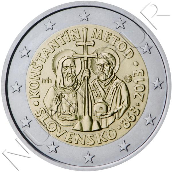 2€ ESLOVAQUIA 2013 - Constantino y Metodio