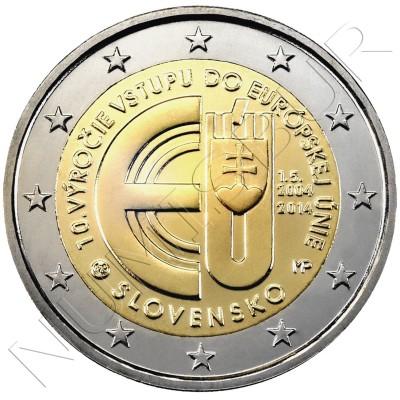2€ SLOVAKIA  2014 - 10th anniv. Entry Slovak Republic