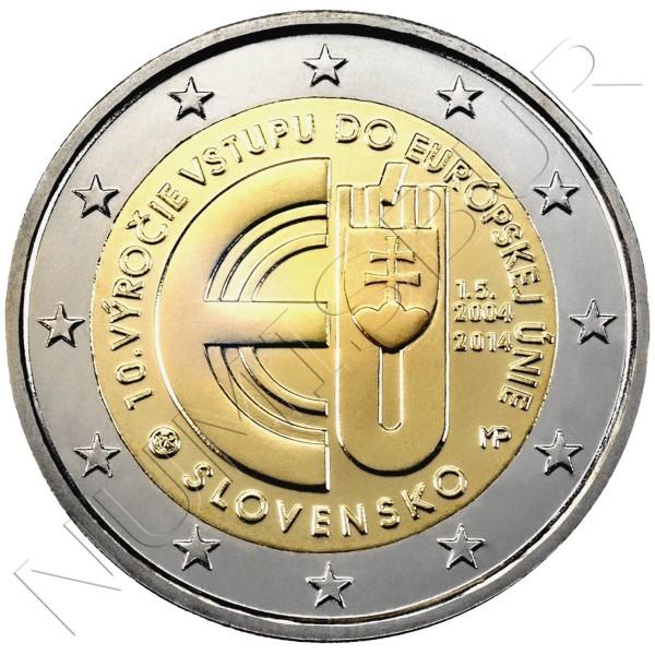 2€ ESLOVAQUIA 2014 - 10º aniv. entrada Republica Eslovaca