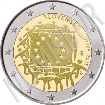 2€ SLOVAKIA 2015 - XXX aniversary of European FLAG