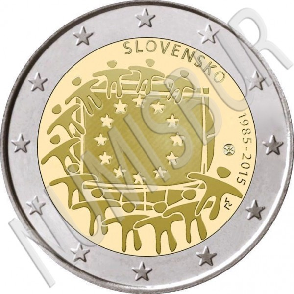 2€ ESLOVAQUIA 2015 - XXX aniv. de la bandera Europa