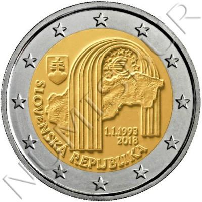 2€ SLOVAKIA 2€ SLOVAKIA 2018 - 25th anniversary of the Slovak Republic