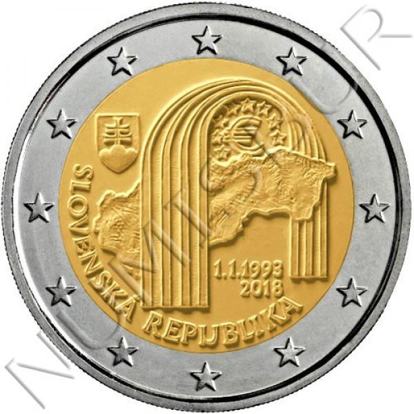 2€ ESLOVAQUIA 2018 - 25 aniversario de la Republica eslovaca