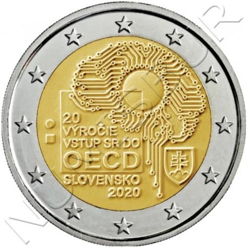 2€ SLOVAKIA 2020 - 20th Anniversary of Slovakia's accession to the OECD