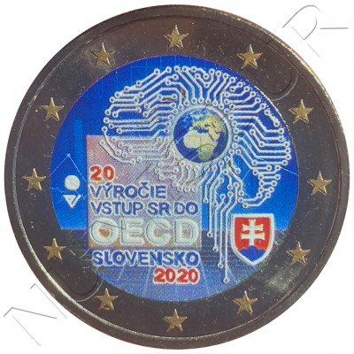 2€ SLOVAKIA 2020 - 20th Anniversary of Slovakia's accession to the OECD (COLORED)