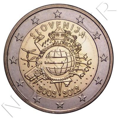 2€ SLOVENIA 2012 - X aniversary of Euro