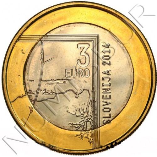 3€ SLOVENIA 2014 - Janez Puhar