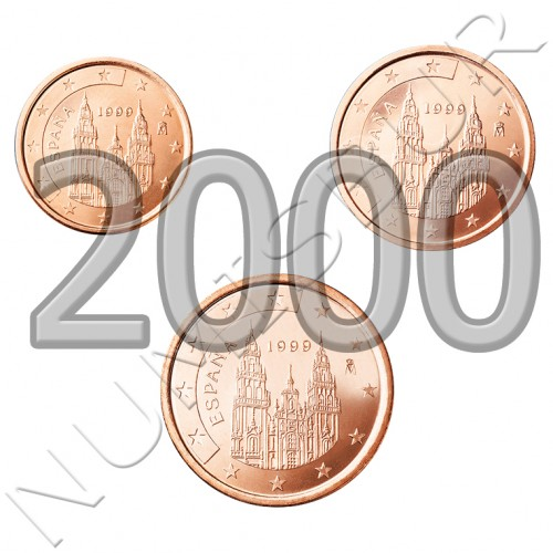1, 2 y 5 cents SPAIN 2000 - S/C