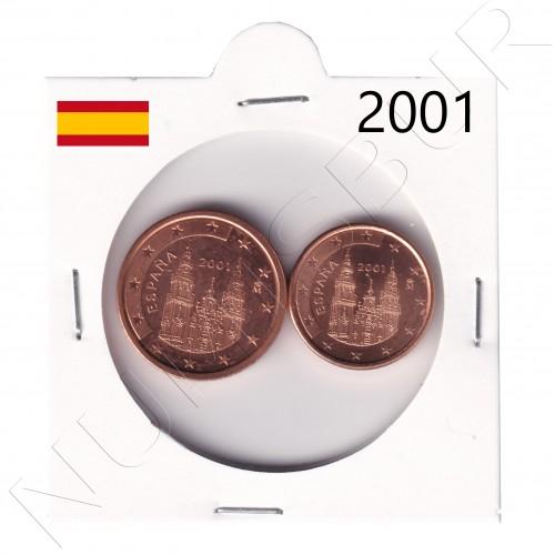 1, 2 cents SPAIN 2001 - S/C