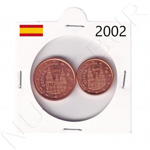 1, 2 cents SPAIN 2002 - S/C