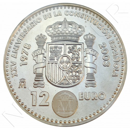 12€ SPAIN 2003 - XXV Anniversary of the Spanish Constitution