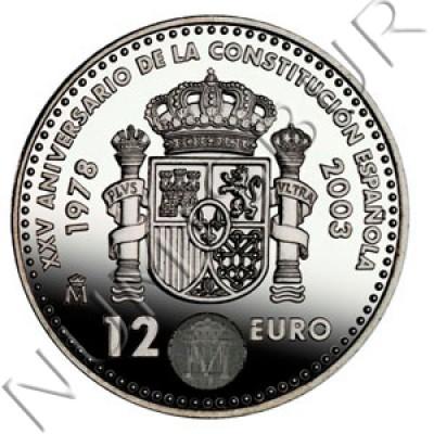 12€ ESPAÑA 2003 - XXV Aniversario de la Constitucion Española