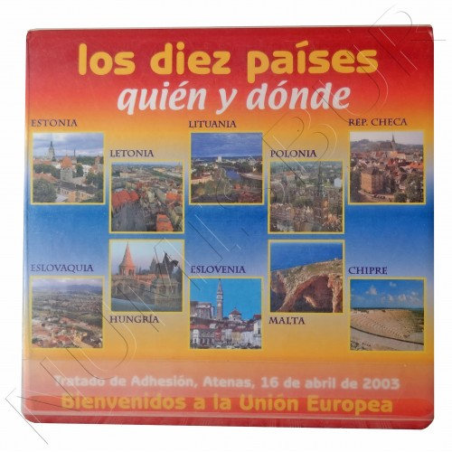 """Set SPAIN 2003 - 10 countries """"Treaty of Adhesion"""" FNMT"""
