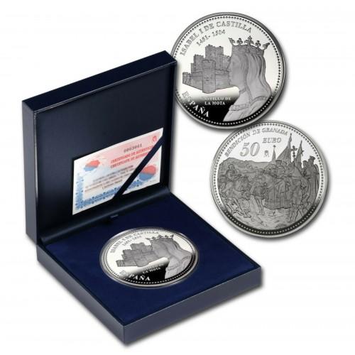 "50€ SPAIN 2004 - Isabel II ""Castillo de la mota"""