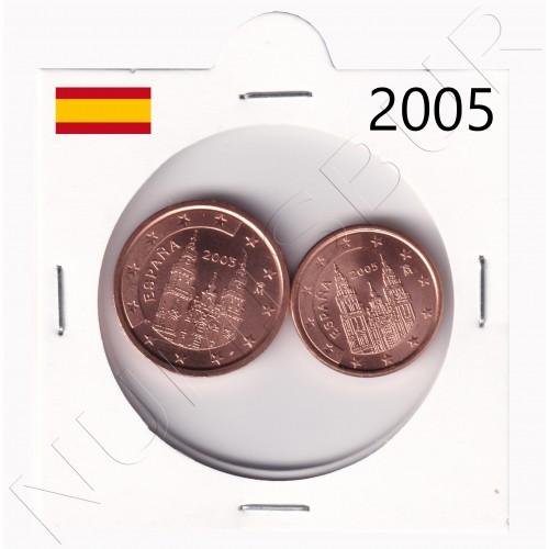 1, 2 cents SPAIN 2005 - S/C