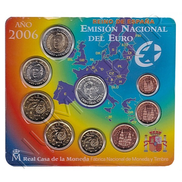 Euroset SPAIN 2006 - V Centenario Cristobal Colon UNC