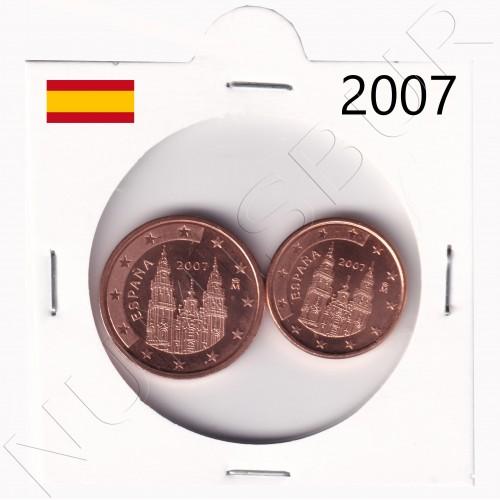 1, 2 cents SPAIN 2007 - S/C