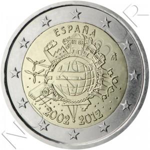 2€ ESPAÑA 2012 - 10º aniv. EURO