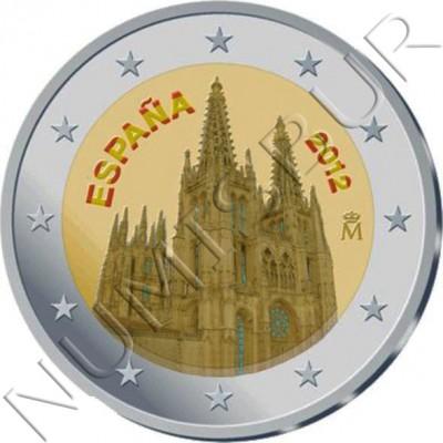 2€ ESPAÑA 2012 - Catedral Burgos (COLOR)