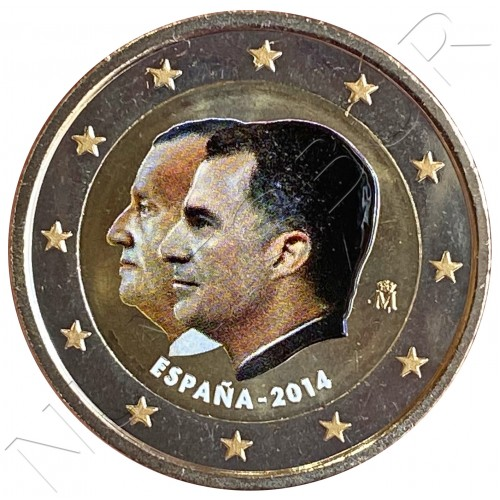 2€ SPAIN 2014 - Change of Throne (COLORED)
