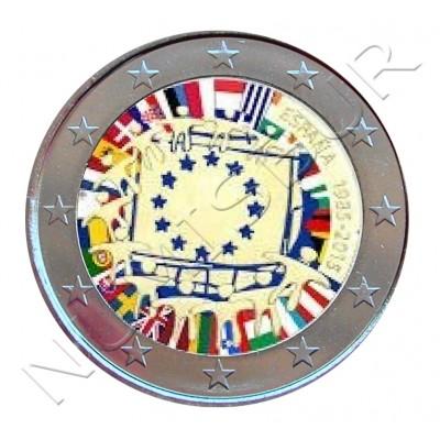2€ ESPAÑA 2015 - XXX aniv. de la bandera Europa (COLOR)