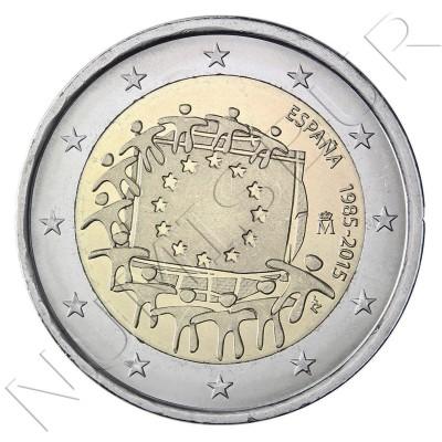 2€ ESPAÑA 2015 - XXX aniv. de la bandera Europa