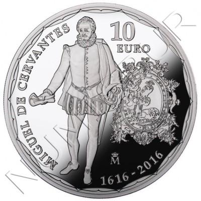 10€ ESPAÑA 2016 - IV Centenario muerte Cervantes