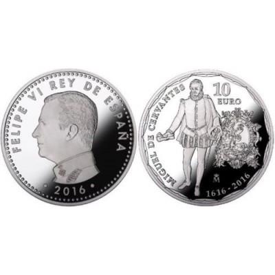 10€ & 2£ ESPAÑA & REINO UNIDO 2016 - Cervantes y Shakespeare