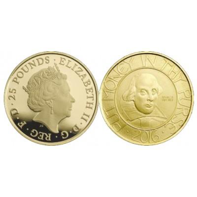 200€ & 25£ ESPAÑA & REINO UNIDO 2016 - Cervantes y Shakespeare