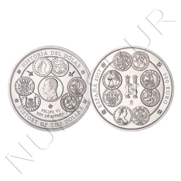 300€ ESPAÑA 2017 - Historia del dolar