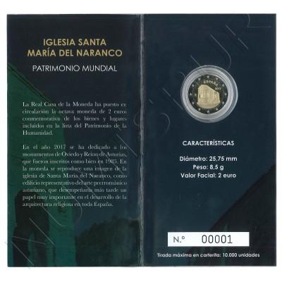 2€ ESPAÑA 2017 - Iglesia de Santa Maria del Naranco (PROOF)