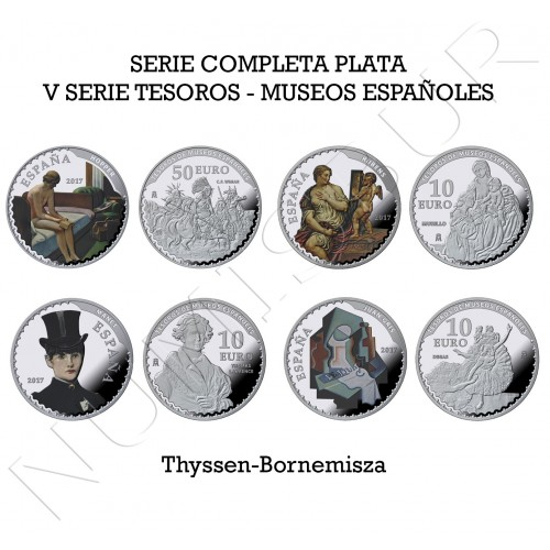 Coleccion completa ESPAÑA 2017 - V Serie Tesoros Museos