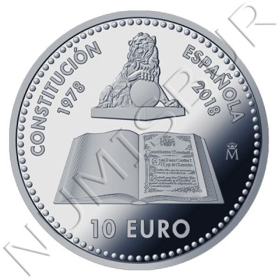 10€ SPAIN 2018 - 40th Anniversary of the Constitution
