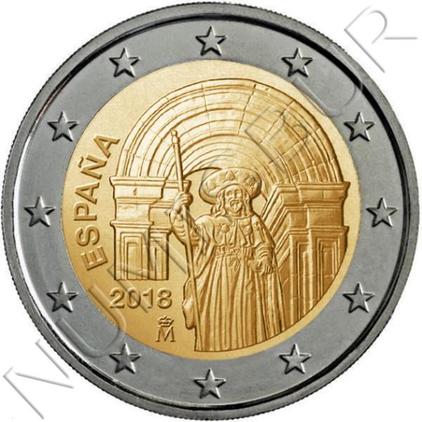 2€ ESPAÑA 2018 - Casco Antiguo de Santiago de Compostela