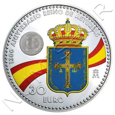 30€ SPAIN 2018 - 1300 anniversary kingdom of asturias