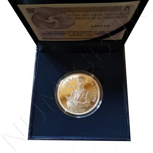 10€ ESPAÑA 2018 - 50 Aniv. S.M. el Rey Don Felipe VI