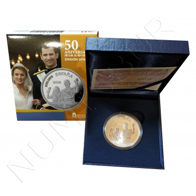 10€ SPAIN 2018 - 50 aniv. King Don Felipe VI
