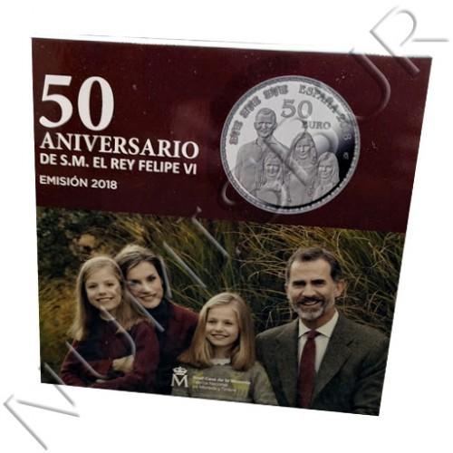 50€ ESPAÑA 2018 - 50 Aniversario de S.M. el Rey Felipe VI