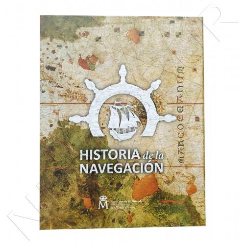 1ª serie HISTORIA DE LA NAVEGACION ESPAÑA 2018 - Album + 4 monedas