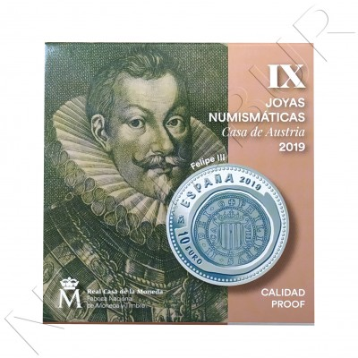 10€ SPAIN 2019 - IX Series Numismatic jewelry House Austria